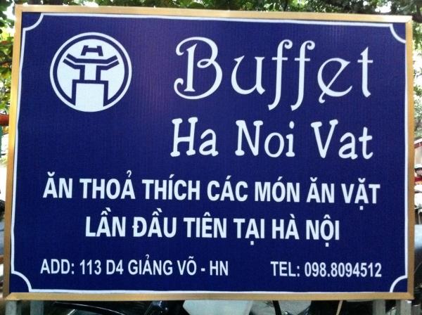 Buffet ăn vặt Hà Nội đã hết thời?