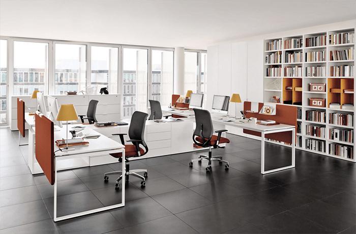 Màu sắc trong văn phòng nên có sự kết hợp hài hòa