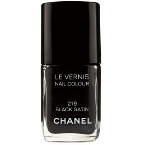Chanel Le Vernis In Black Satin