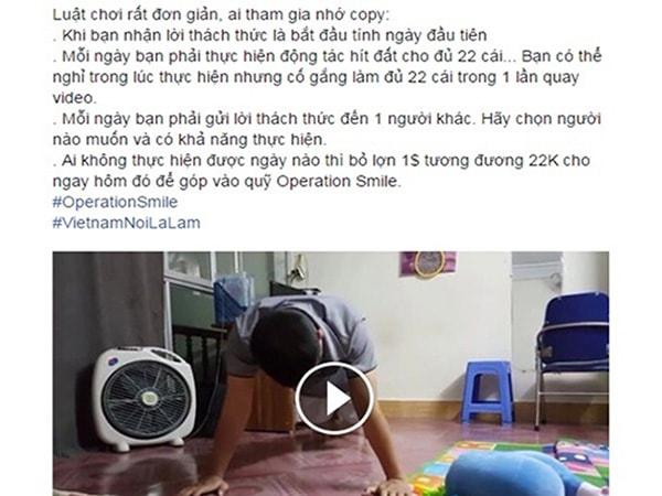 Cộng bạn trẻ Việt Nam hưởng ứng trào lưu #22pushupchallenge.