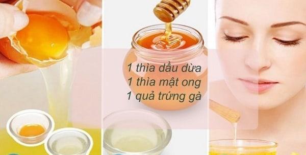 Kết hợp dầu dừa, mật ong và trứng gà để có làn da sáng mịn