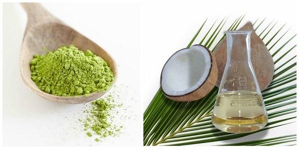Kết hợp dầu dừa và bột chà xanh để dưỡng d