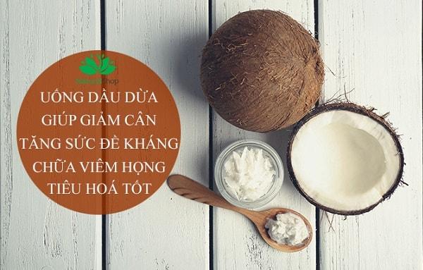 Dầu dừa có công dụng hiệu quả trong quá trình giảm cân