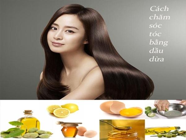 Cách chăm sóc tóc bằng dầu dừa cho mái tóc khỏe đẹp