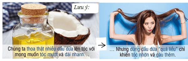 Sử dụng dầu dừa không đúng cách có thể khiến tóc bị gàu