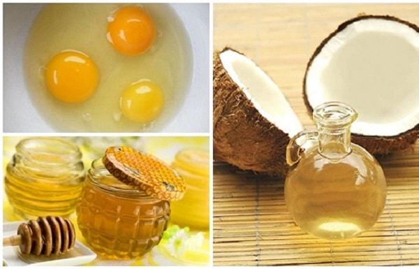 Hỗn hợp dầu dừa, mật ong và lòng trắng trứng cũng có thể làm trắng da