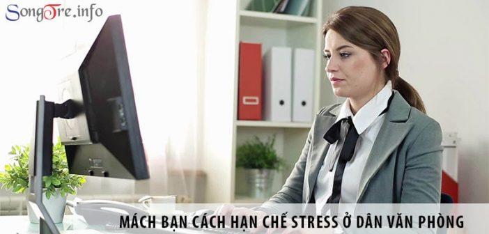 Mách bạn cách đơn giản hạn chế stress ở dân văn phòng