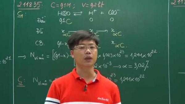 Thầy Lê Phạm Thành – Thạc sĩ Hóa học lý thuyết và Hóa lý của ĐH Sư phạm Hà Nội