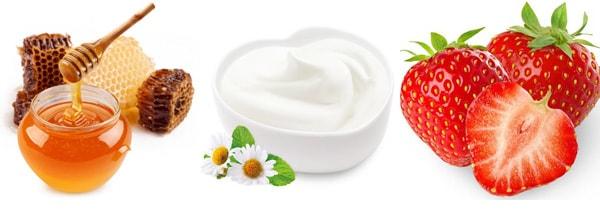 Mặt nạ dưỡng da từ sữa chua và dâu tây