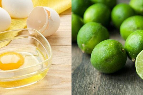 Sử dụng hỗn hợp trứng và chanh giúp giảm tàn nhang cho bà bầu