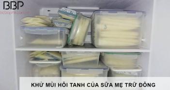 cách khử mùi hôi tanh của sữa mẹ trữ đông