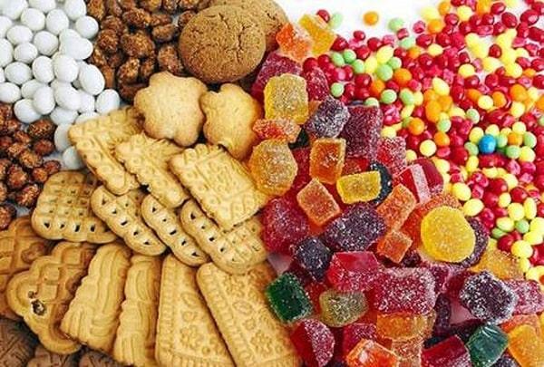 Đồ ngọt chứa đường tinh luyện