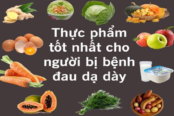 Thực phẩm tốt cho người bị đau dạ dày