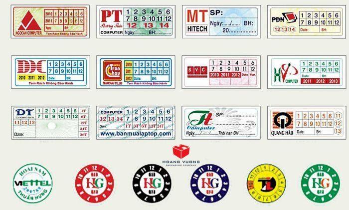 Giấy in tem bảo hành vỡ