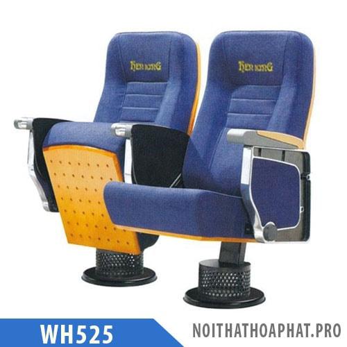 Ghế hội trường đôi WH525 chân trụ tròn bám sàn