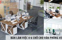 Mua cụm bàn làm việc nhân viên 4-6 chỗ cho văn phòng 45m2