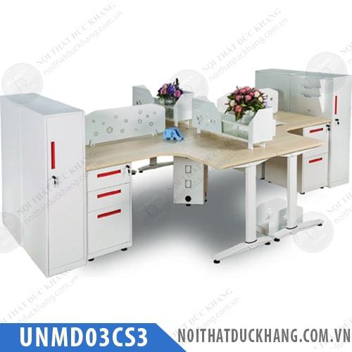 Cụm bàn làm việc 4 chỗ UNMD03CS3