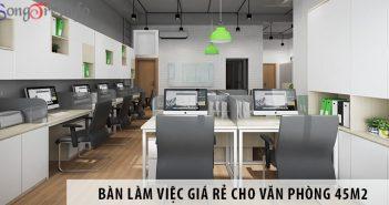 Mua bàn làm việc nhân viên giá rẻ cho văn phòng 45m2