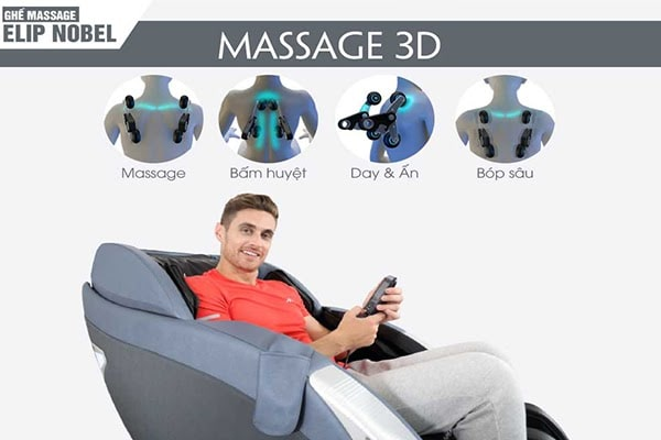 Lựa chọn ghế massage có chức năng mát xa nhẹ nhàng