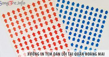 Xưởng in tem dán lỗi uy tín, giá rẻ tại quận Hoàng Mai